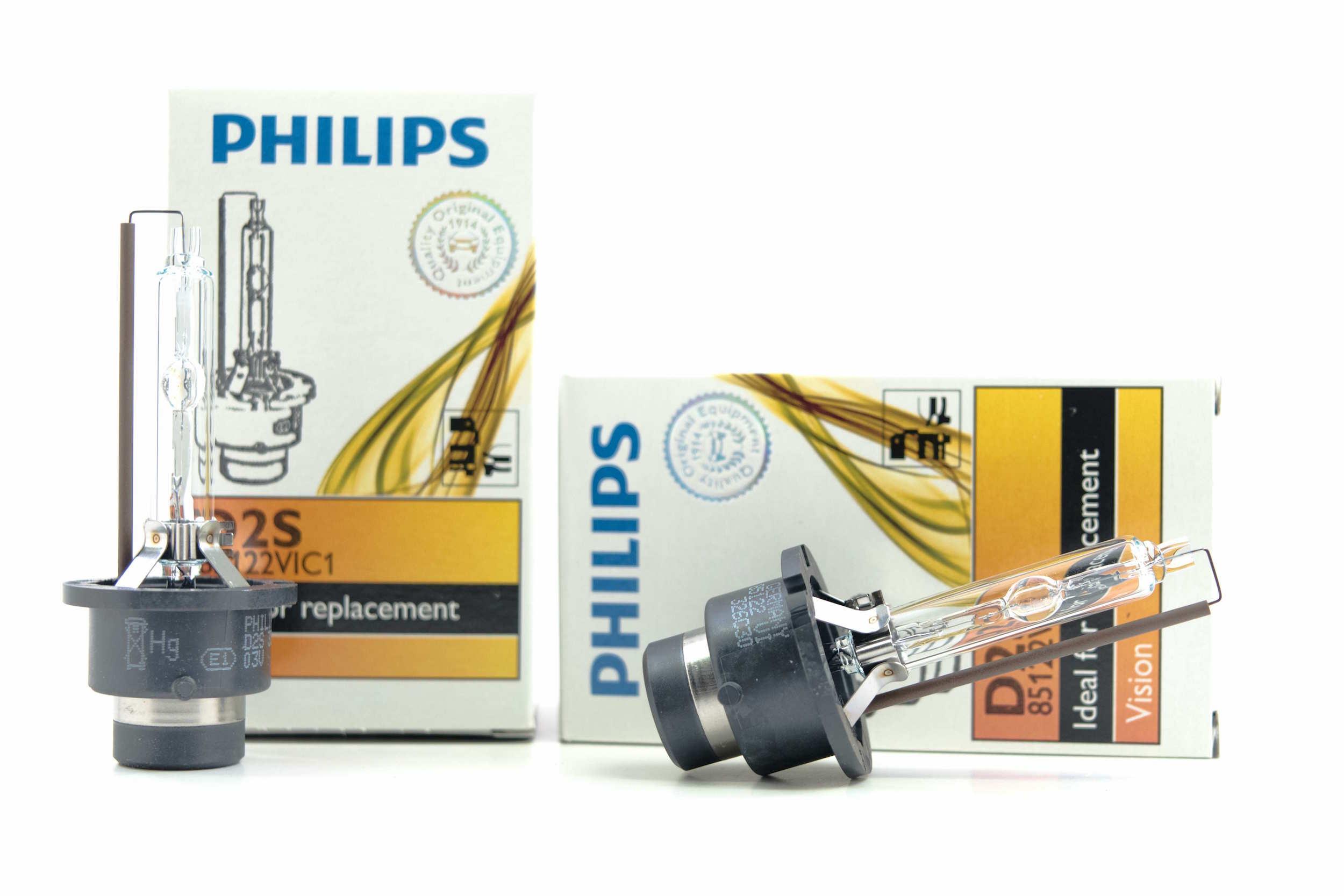 HCX Rebased PHILIPS OEM 4300K 85122 D2S HID Xenon to 9006 HB4 bulbs 35W Germany