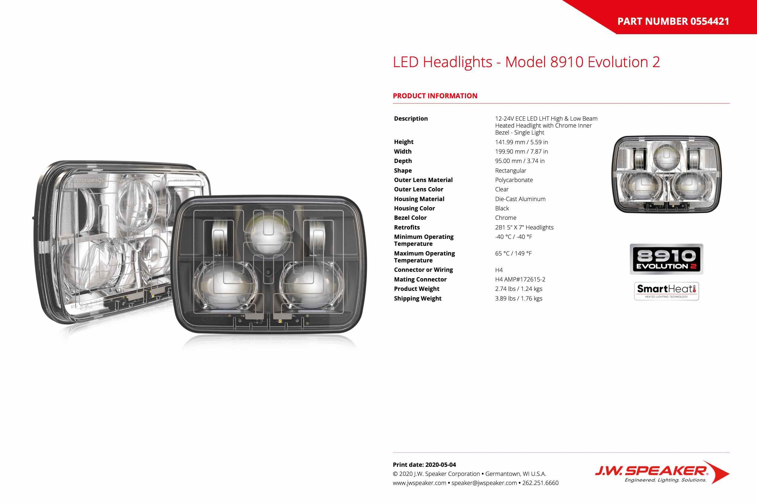 JW Speaker Model 8910 5x7 LED Lights I The Retrofit Source